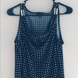 Nine West Dress Tank Top with Drape neckline